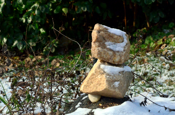 Three Stones in the snow